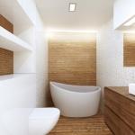 Projekty architekt wnętrz -  nowoczesna łazienka z wanną wolnostojącą