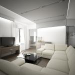 projekt salonu w stylu loftowym nowoczesnym