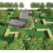 projekty ogrodów mały skwer